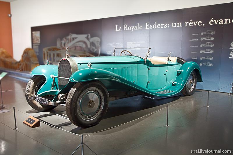 Автомузей; Национальный музей автомобилей, Мюлуз (Mulhouse), Франция; Bugatti Type 41; La Royale; Roadster Royale Esders